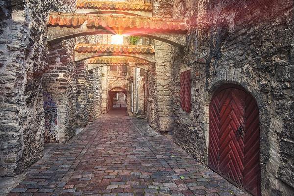 Fotvandring i Tallinns gamla stad och besök till Estlands friluftsmuseum