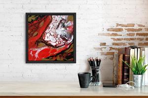 Acrylic pouring or stencil art portrait workshops