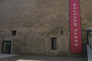 Narvan linnan kunnostettu itäsiipi