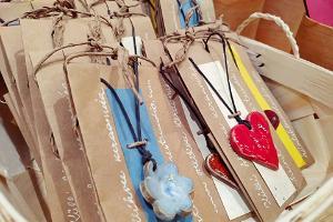 Handicrafts in the museum shop of Narva Castle