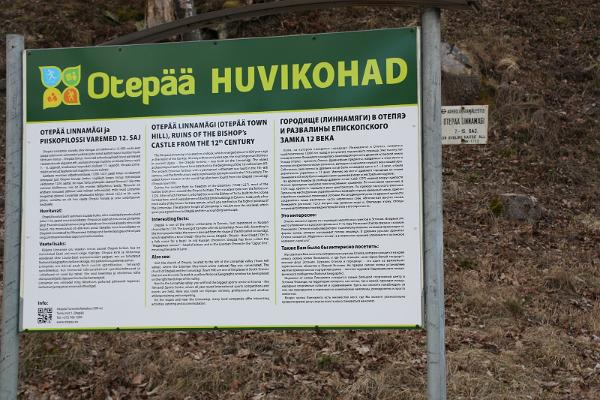 Ruinerna av Otepääs biskopsfästning från 1200-talet.