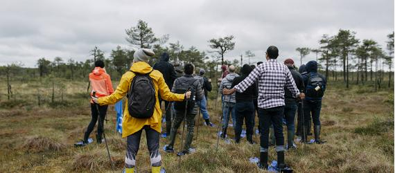 Moorschuh-Wanderungen in Estland
