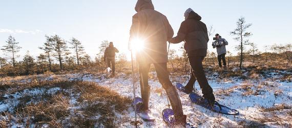 Mit Schneeschuhen durch Estland