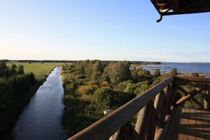 Birdwatching tower in the Räpina polder conservation area