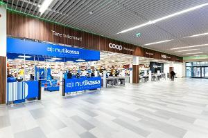 Торговый центр Pargi Keskus изнутри, на переднем плане магазин COOP Maksimarket