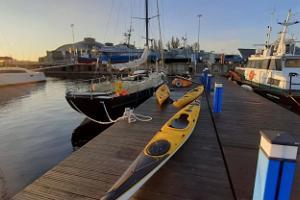 Izbraucieni ar kanoe laivām Tallinas līcī