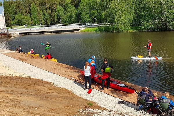 Süsta- ja kanuusõitu tutvustav perepäev Võhandu jõel Leevakul