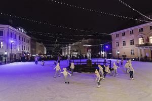 Каток в сердце города Тарту