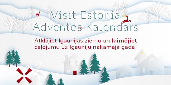 Visit Estonia adventes kalendars 2020 reklāmkarogs
