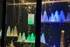 Christmas windows in Väätsa