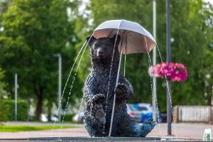 Otepää Central Square fountain 'Fun Ott'