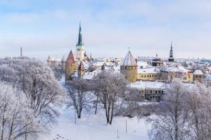 Talvine Vanalinna ekskursioon jalgsi, sooja joogi pausiga