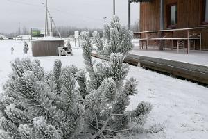 Tuhamäe hosteli talvine vaade