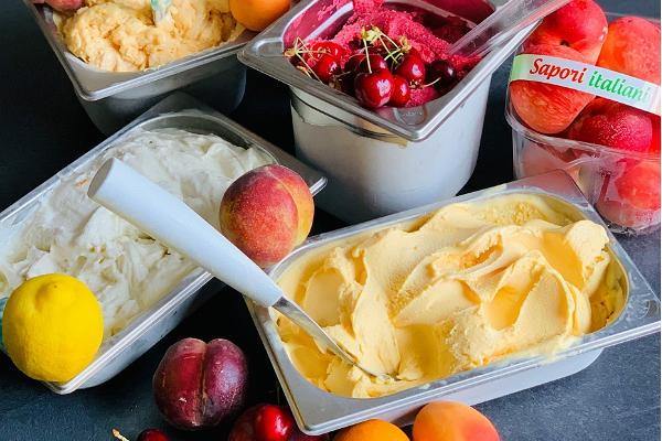 A selection of Italian gelato