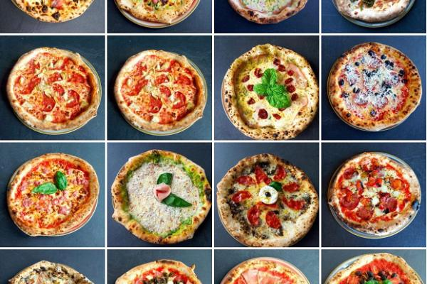 Wide selection of Italian pizzas
