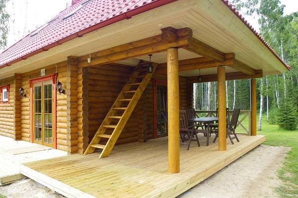 Outdoor sauna terrace
