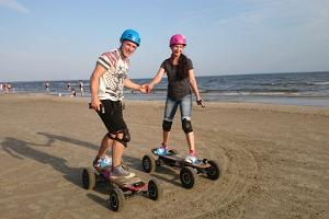 Electric skateboard safaris
