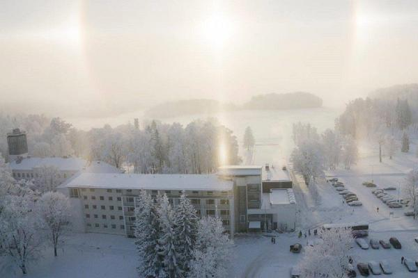 Pihajerves Spa & Atpūtas centrs ziemā no putna lidojuma