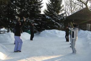 Utomhusaktiviteter på vintern i Loodus BioSpa naturbehandlingscentrum