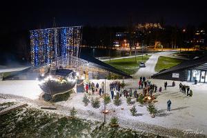 Lodjakoda (Barge Chamber) during Christmas