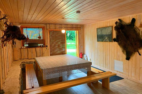 Öökulli Kalamaja, Vorraum der Sauna