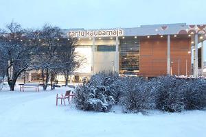 Тартуский универмаг в зимнем Тарту