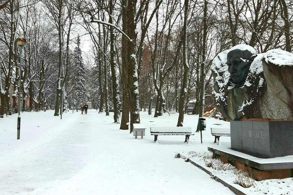 Vabaduse puiestiku park talvel