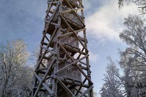 Iisaku hill nature reserve and viewing tower