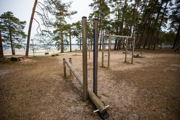 Võsu Beach, outdoor gym