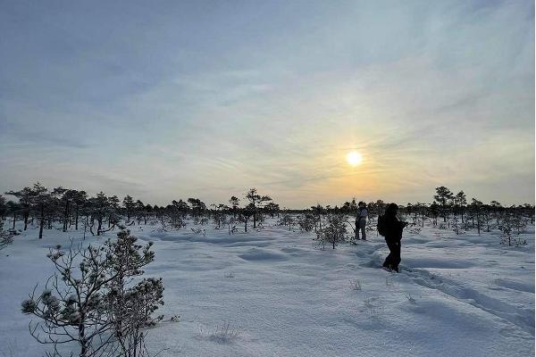 Räätsamatkad üle lumise Mündi raba