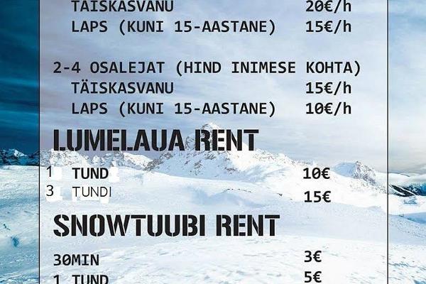 Paluküla Mäe keskuse hinnakiri