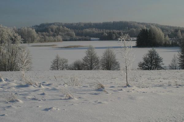 Pühajärv på vintern