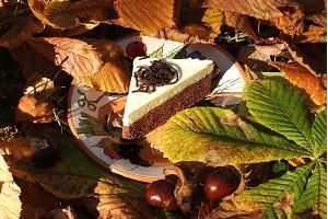 Пирог с тремя видами шоколада в кафе Pagaripoisid на улице Кюйни