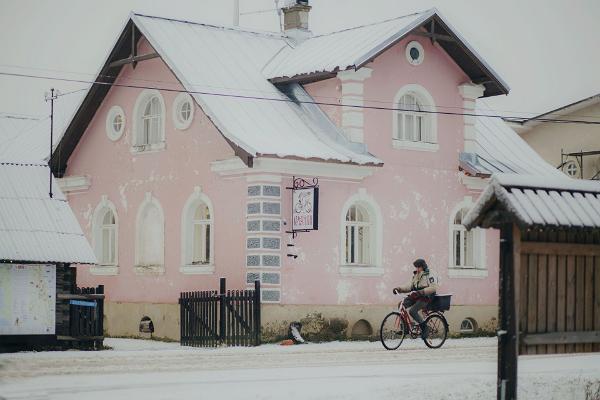 Peipusa reģiona Apmeklētāju centrs ziemā