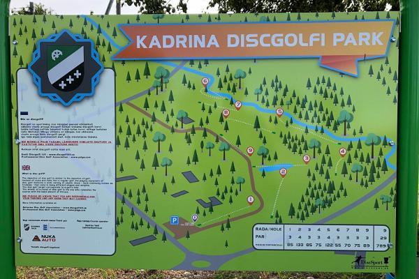 Kadrina discgolfi pargi kaart