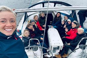 Romantic sea voyage on the blue waves of the Gulf of Riga