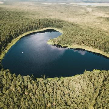 Heart shaped lake, by Priidu Saart