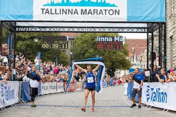 Tallinna Maratoni 42,2 kilomeetri jooksu võitja