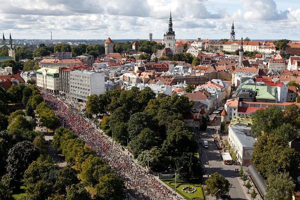Tallinner Marathon von oben