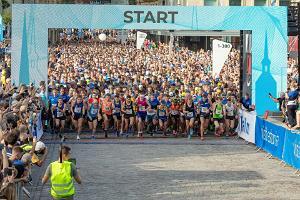 Tallinnan maratonin 10 kilometrin juoksun lähtö