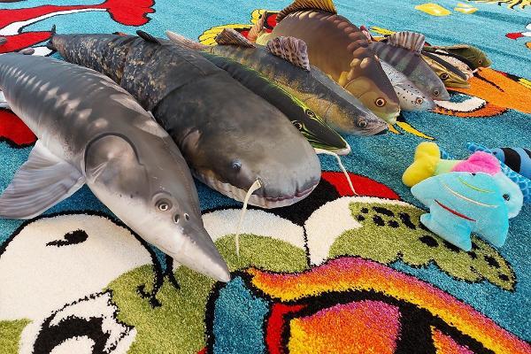 Järvemuuseumi pehmed mängukalad lastele