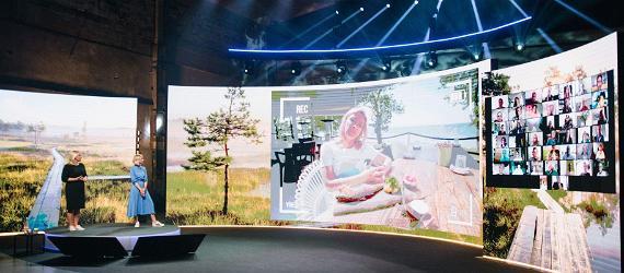Visit Estonia esitlus rahvusvahelisele publikule virtuaalstuudios