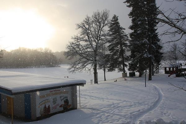 Пюхаярвеский пляж зимой