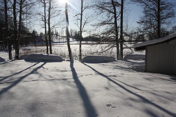 Lake Pühajärve boat rental in winter