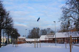 Igaunijas karoga masts Otepē