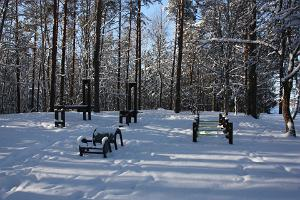 Otepää Sports Hall, outdoor gym in winter