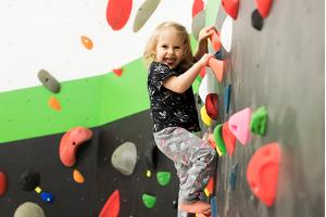 Ministry of Climbing Tartu and a happy little climber