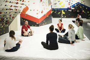 Ministry of Climbing Tartu instructor instructing the group