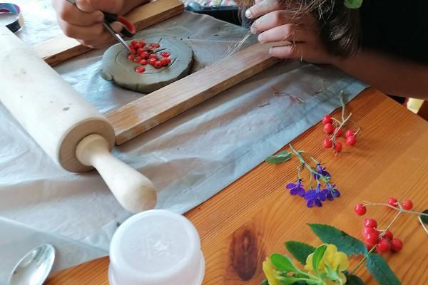 Fossil making workshop in Soomaa