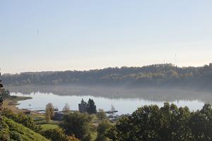 Viljandi järv, udu, hommik